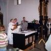 Farnost Tábor - křest Štěpánky Machové 23. dubna 2006